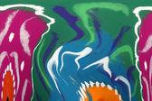 Pintura abstracta tribal — Foto de Stock