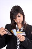 Wybór karty kredytowe — Zdjęcie stockowe