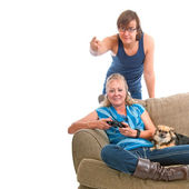 Teenager Coach For Mom — Stock Photo