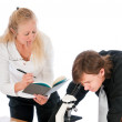 Instructor Grading A Student — Stock Photo #7980006