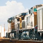 Freight Train Returning Empty Coal Cars — Stock Photo #9397315