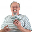 Happy Man With Hand Full Of Money — Stock Photo #9980548