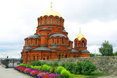 Alexander Nevsky Church in Novosibirsk — Stock Photo