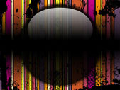 Glass Circle Background Stripes Black — Stok Vektör