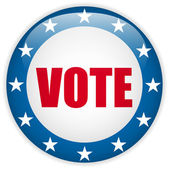Usa wahl vote button klicken. — Stockvektor