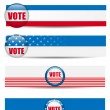 Royalty-Free Stock Vector Image: Vote Banners. Set of four with Background