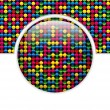 Glass Circle Button Colorful Dots — Stock Vector #10668190