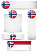Norway Country Set of Banners — Stock Vector