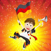 Germany Sport Fan with Flag and Horn — Stock Vector