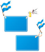 Argentina Sport Message Frame with Flag. Set of Two — Stok Vektör