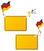 German Sport Message Frame with Flag. Set of Two — Stock Vector