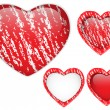 Red Heart Glass Chalk for Valentine's Day — Stock vektor