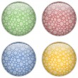 Glass Circle Button Colorful Bubbles - Image vectorielle