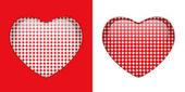 Glass Heart Textures — Stock Vector
