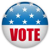 Bouton de vote élection aux états-unis. — Vecteur