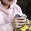 Woman with cofee — Stock Photo #8962071