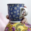 Stock Photo: Womwith cofee