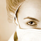 Portrait of a young doctor! — Stock Photo