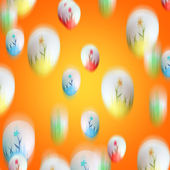 Falling easter eggs — Stock Photo