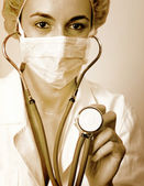Young doctor with stethoscope. — Stock Photo
