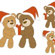 Xmas bears — Stock Vector