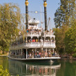Large Steamboat on River at Disneyland — Stock Photo