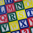 Rows of Children's Alphabet Blocks — Stock Photo