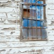 Stock Photo: Blue Window on Old Wall