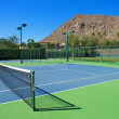 Resort's Blue Tennis Courts — Stock Photo #10492936