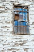 Blue Window on Old Wall — Stock Photo