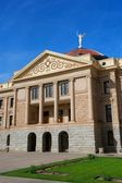 Arizona State Capital with pillars, copper dome, angel and bright blue sky — Stock Photo