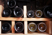 A beautiful wine cellar with a number of bottles — Stock Photo