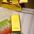 Stack of gold bar — Foto de Stock