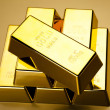 Stack of gold bar — Stock Photo #10266291