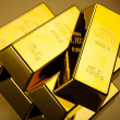 Stack of gold bar — Stock Photo