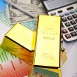 Gold and money — Stock Photo
