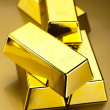 Finance Concept, Gold bars — Stock Photo