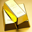 Gold bullions — Stock Photo