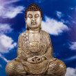 Buddha and blue sky background — Foto de Stock