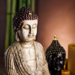 Still life with buddha statue and bamboo — Stock fotografie