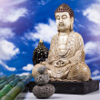 Buddha and blue sky background — ストック写真