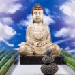 Buddha statue in a meditation — Stockfoto