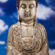 Buddha and blue sky background — Foto Stock