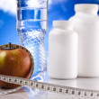 Apple with Supplement Diet — Stock Photo