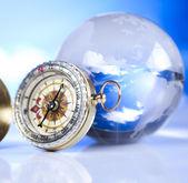 öst-väst, kompass — Stockfoto