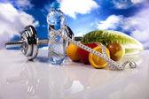 Gimnasio, dieta y estilo de vida saludable concepto — Foto de Stock