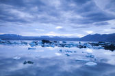 Landscape scenery with a ice, Jokulsarlon, Iceland — Stock Photo