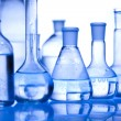 Chemistry equipment, laboratory glassware - Stock Photo