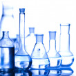 Chemistry equipment, laboratory glassware — Stock Photo #8840367
