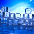 Blue and shiny ice cubes — Stock Photo #8841022